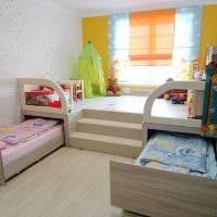 идея красивого интерьера детской комнаты для девочки фото