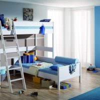 идея необычного стиля детской комнаты для двух мальчиков фото