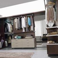 идея необычного дизайна гардеробной комнаты картинка
