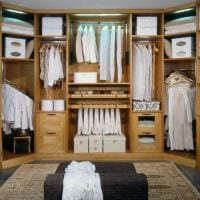 вариант современного стиля гардеробной комнаты картинка