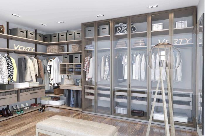 идея современного интерьера гардеробной