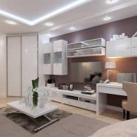 вариант необычного дизайна гостиной 19-20 кв.м картинка