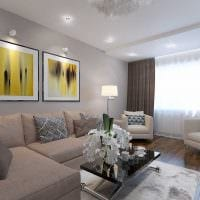 пример яркого стиля гостиной комнаты 25 кв.м картинка