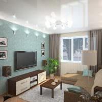 вариант необычного стиля гостиной комнаты 16 кв.м картинка