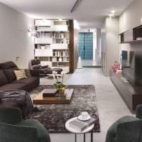пример светлого декора гостиной в стиле минимализм картинка