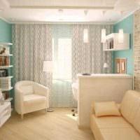 вариант необычного дизайна современной квартиры 65 кв.м картинка