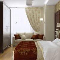 пример необычного декора современной квартиры 65 кв.м фото