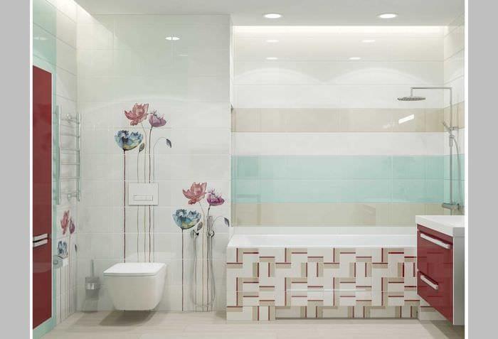 идея необычного интерьера ванной 2020