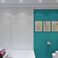 идея современного интерьера ванной комнаты 4 кв.м фото