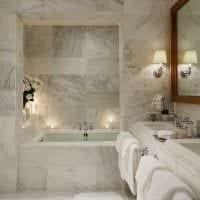идея яркого интерьера ванной в классическом стиле фото