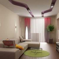 пример светлого стиля гостиной 19-20 кв.м картинка