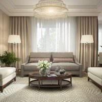 вариант необычного интерьера гостиной комнаты в современном стиле фото