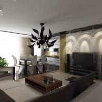 вариант необычного дизайна гостиной комнаты в стиле минимализм картинка