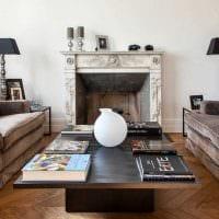 вариант необычного интерьера гостиной в частном доме фото