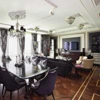 вариант красивого стиля квартиры в стиле современная классика фото