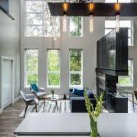 идея современного интерьера дома со вторым светом картинка