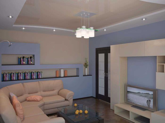 пример яркого дизайна квартиры 50 кв.м
