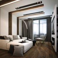 идея необычного дизайна современной квартиры 70 кв.м картинка