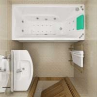 идея яркого стиля ванной 2.5 кв.м фото