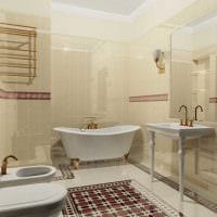 идея необычного дизайна ванной в классическом стиле фото