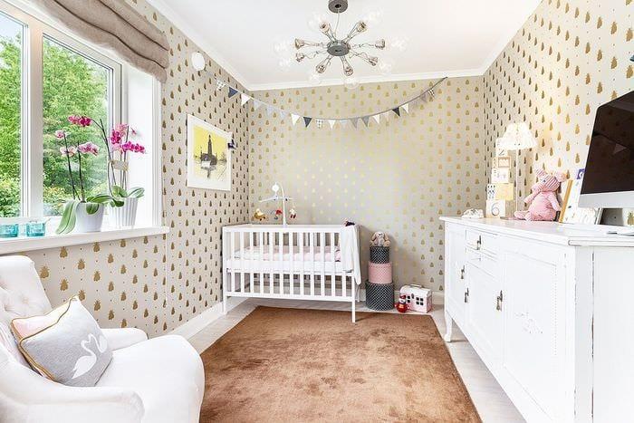 вариант красивого стиля детской комнаты