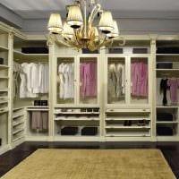 идея современного дизайна гардеробной фото