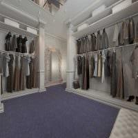 вариант яркого стиля гардеробной комнаты картинка