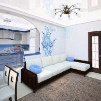 пример необычного дизайна гостиной 25 кв.м фото