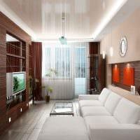 вариант красивого дизайна гостиной 16 кв.м картинка