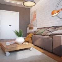 пример светлого стиля гостиной 16 кв.м картинка