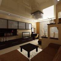 вариант необычного интерьера гостиной 19-20 кв.м фото