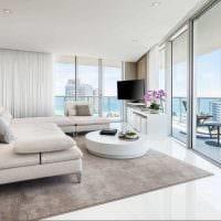 вариант светлого дизайна гостиной комнаты 2018 фото