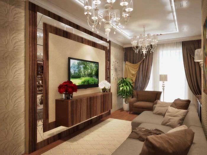 вариант красивого стиля квартиры в стиле современная классика