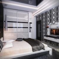 идея необычного дизайна белой спальни картинка