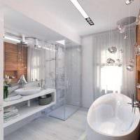 идея яркого стиля ванной комнаты 2017 фото