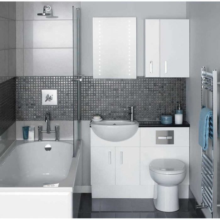 вариант современного дизайна ванной комнаты 2020