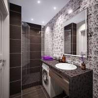 вариант светлого стиля ванной 5 кв.м фото