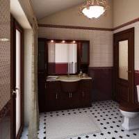 вариант необычного стиля ванной в классическом стиле картинка