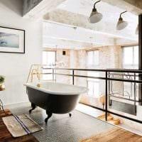 идея необычного стиля ванной в черно-белых тонах картинка