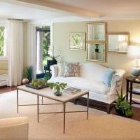 пример красивого дизайна гостиной комнаты с эркером фото