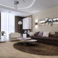 идея красивого дизайна гостиной в современном стиле фото