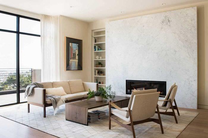 вариант необычного стиля гостиной комнаты в современном стиле