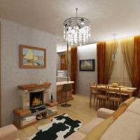 вариант яркого дизайна квартиры 50 кв.м фото