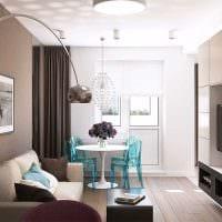 пример красивого дизайна квартиры 65 кв.м фото