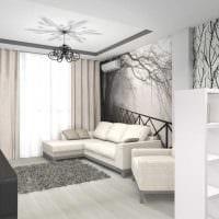идея яркого интерьера современной квартиры 70 кв.м фото