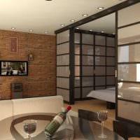 пример яркого интерьера квартиры 50 кв.м фото