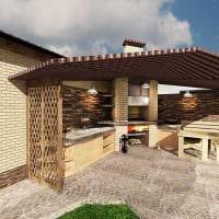 идея яркого дизайна двора частного дома картинка