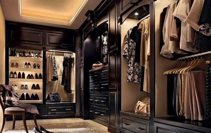 идея современного стиля гардеробной