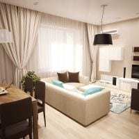 вариант светлого дизайна гостиной комнаты 25 кв.м фото