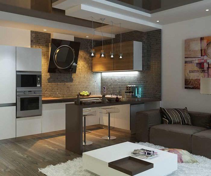 пример необычного стиля гостиной комнаты 25 кв.м